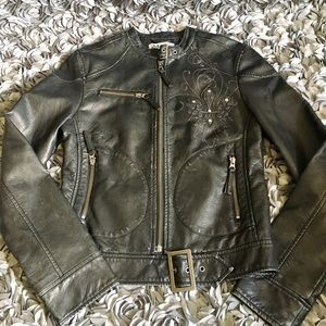 Archaic faux leather jacket